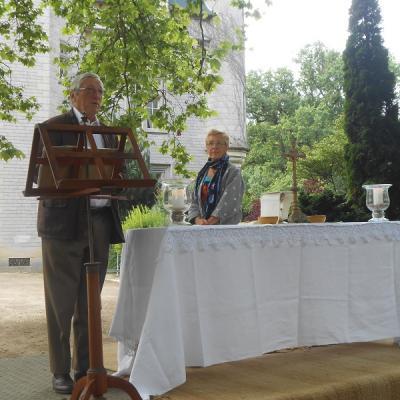 Messe en plein air au Château de Pitray- 3juillet 2016