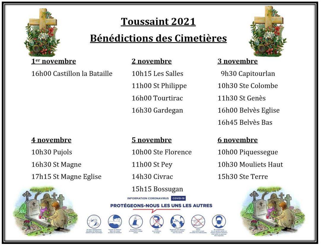 Benediction cimetieres 2021